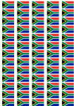South Africa Flag Stickers - 65 per sheet